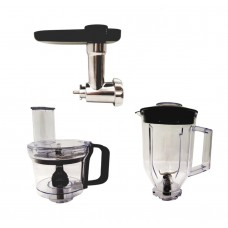 廚師機附加配件組合:攪拌杯+碎肉器+食物處理器